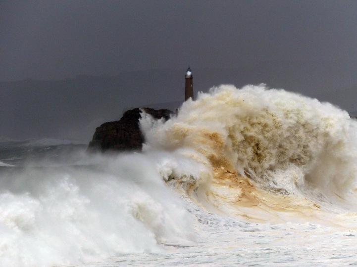 La Isla de Mouro durante temporal